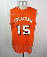 Syracuse Orange NCAA Men's STARTER Mesh Basketball Jersey Shirt #15 Anthony L