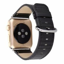 PREMIUM QUALITY Black Carbon Fiber Leather Strap Band For Apple Watch 38mm/42mm