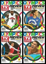 2012 TV Guide Olympics Preview 4 Cover Set Phelps LeBron James Solo Weiber!