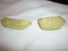 cristalloterapia PUNTA DI QUARZO ARCOBALENO GIALLO cristallo di rocca minerale