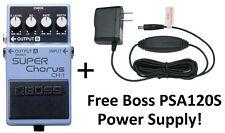 New Boss CH-1 Super Chorus Pedal! FREE Boss PSA120S Power Supply!