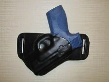 S&W M&P SHIELD, 9 & 40, LEATHER,SOB, OWB BELT HOLSTER, RIGHT HAND, SLIM DESIGN