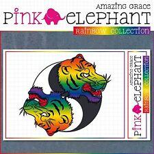 Aufkleber - Yin Yang 01r - Tiger - Regenbogen - gay - lesbisch - rainbow