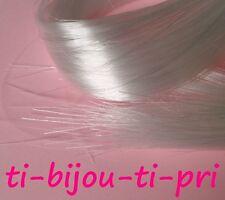 LOT de 25 FILS CORDON NYLON transparent 70cm x 0,2MM création bijoux perles fimo