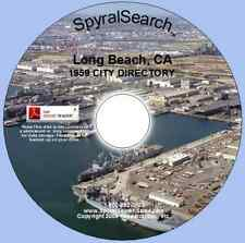 CA - Long Beach 1959 City Directory CD - Searchable