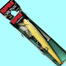 "Vintage Rapala Gold Black (F11 G) Original Floating 4-3/8"" Balsa Lure (Ireland)"