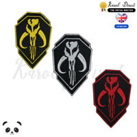 Mandalorian Double Shield Movie Embroidered Iron On /Sew On Patch Badge