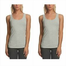 8d42bbb858c4a3 Womens sz M 2 Pk Stretch Tank Shirts NWOT gray 1218-s50-pb14