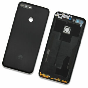 Battery Cover For Huawei Y6 Prime 2018 Buttons Camera Lens Housing Black Repl...
