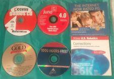 Vintage Internet Cds Disks Aol Copuserve 3com robotics juno cyber patrol
