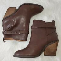 NEW Lucky Brand Encline Brown Leather Booties Boots Women's Size 6 NWOB NWOT
