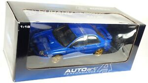Blue AutoArt 1/18 Subaru Impreza WRX STI World Rally Champion Toy Model Car