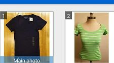 2 NEW RALPH LAUREN POLO WOMEN PONY RIBBED SCOOP NECK T SHIRTS  SZ S THESPOT917