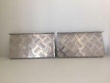 Aluminium checker-plate light holders 4x4 ute ( set of 2) - 2mm
