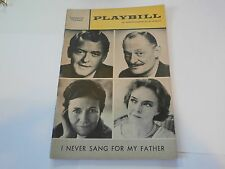 Playbill Program I Never Sang For My Father Longacre Theatre 1968 Hal Holbrook