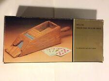 Deluxe Solid Oak Four Deck Dealer Shoe.