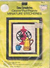 Sew Simple Miniature Stitcheries Crewel Kit COFFEE BREAK MS 15 Vtg 1970s Sealed