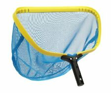"Swimming Pool Leaf Rake Head w/ Aluminum Frame & Durable Skimmer Mesh Net (16"")"