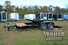 NEW 2018 7 x 20 14K Flatbed Utility TILT Equipment Hauler Car Hauler Trailer