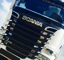 Scania New Streamline Chrome Front Grill Side Parts 12 pieces Stainless Steel