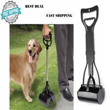 Portable Dog Pet Pooper Scooper Jaw Poop Scoop Clean Pick Up Tool Long Handle GP