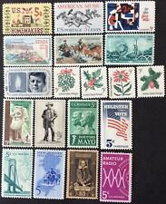 1964 Commemorative singles, Scott #1242-60, MNH, F-VF