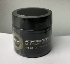 Active Wow Activated Coconut Charcoal Powder Natural Teeth Whitening 2 fl.oz.