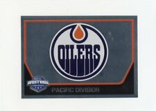 17/18 PANINI NHL STICKER TEAM LOGO #318 EDMONTON OILERS *40646