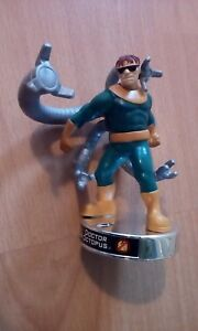 """Attacktix Marvel Action Figure """"Dr Octopus"""" Silver Base - HTF With Spring Action"""