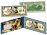 "MUHAMMAD ALI ""Petruccio Art"" Legal Tender U.S. $2 Bill *LICENSED* w/Folio & COA"