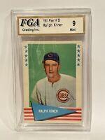 1961 Fleer Baseball Greats #50 RALPH KINER FGA 9 MINT