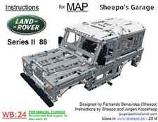 Sheepo's Lego Technic Land-Rover Series II 88 Bodywork(MAP) ONLY INSTRUCTIONS