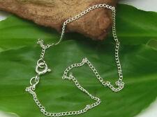 Fußkette einfach 925 Sterling Silber Fuss Kette Fusskettchen Armband 22 cm