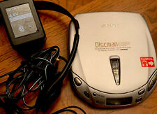 Sony D-E451 Discman Esp2 Compact Cd Player w/Ac adapter - Tested Works