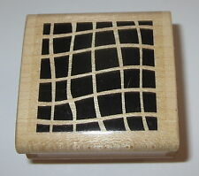 Criss Cross Rubber Stamp Background Design Waves Blocks Paper Inspirations E9710