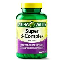 Spring Valley Super B Complex with Vitamin C & Electrolytes 250-CT SAME-DAY SHIP