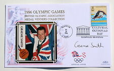 OLYMPIC GAMES ATLANTA 1996 BENHAM COVER SWIMMING SIGNED BY GRAEME SMITH