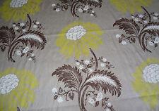 "HARLEQUIN ""MODENA"" 3.85 metre curtain designer fabric 9456 yellow/brown/linen"