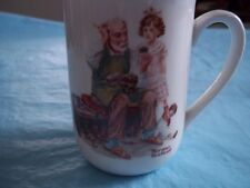 """Norman Rockwell 1982 mug coffee cup """"The Cobbler"""""""