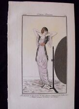 Siméon Costumes Parisiens 1912 Déshabillé soie fourrure velours casaque Pl. 26