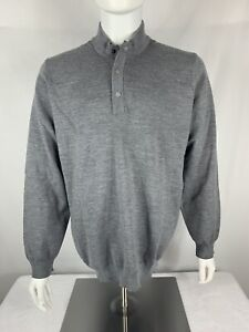 NWT $150 Adidas Adipure Novelty Mens Wool Blend Golf Sweater, Gray Large  CW8946