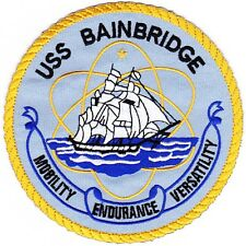 Navy USS BAINBRIDGE DLG(N)-25  Nuclear Guided Missile Destroyer MILITARY PATCH