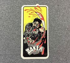 Baker Skateboards Sticker 4in machete NOS si