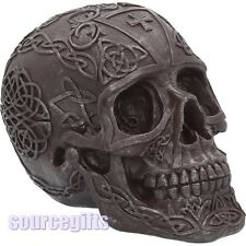 NEW CELTIC IRON SKULL ORNAMENT FIGURINE GOTHIC GIFT NEMESIS NOW U3528