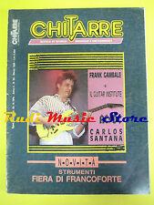 rivista CHITARRE 36/1989 Frank Gambale Santana Angus Young Gabriel Amato No cd