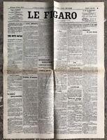 N127 La Une Du Journal Le Figaro 1er Août 1914