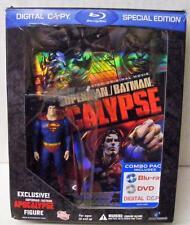 SUPERMAN BATMAN APOCALYPSE BLU RAY DVD BEST BUY EXCLUSIVE w/ FIGURE DC DIRECT