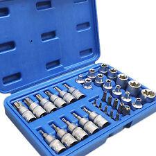 Außen Torx Innentorx Nüsse Nuss 34-tlg Steckschlüssel Satz Bits Werkzeug Set