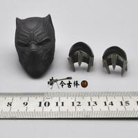"Chadwick Boseman 1:6 Black Panther Helmet Bracer For 12"" Male Action Figure Body"