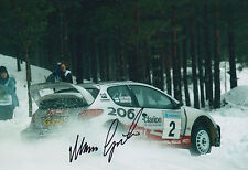 Marcus Gronholm Hand Signed 12x8 Photo Peugeot Rally 2.